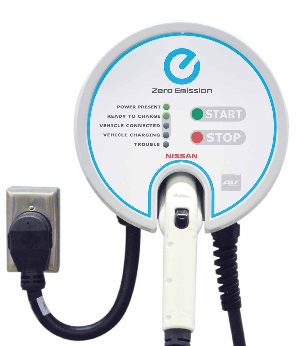 Aerovironment Evse Rs Pi 25 74900 Smart Charge America Nissan Wiring Usb Harness Connection Electric Car Charging Station Detail View