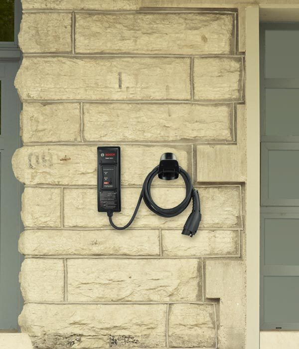 Bosch Power Xpress EL-50600-C electric car charging station - installed on exterior wall