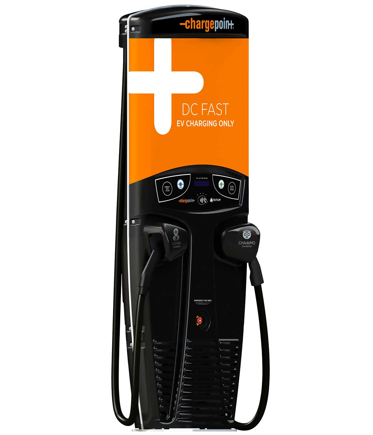 ChargePoint Express 200 CPE200 electric car charging station EVSE - right side view