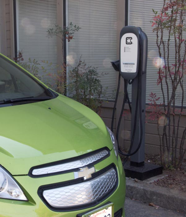 ClipperCreek HCS-60 electric car charging station EVSE - optional pedestal mount
