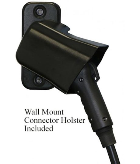 ClipperCreek LCS-20 electric car charging station EVSE - wall mount J1772 connector holster included