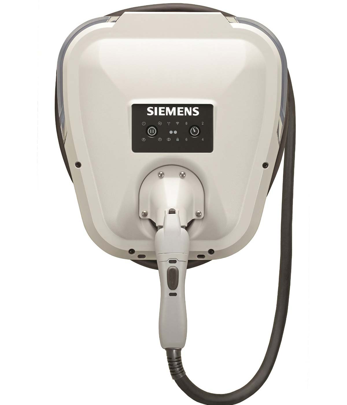 Siemens VersiCharge VC30GRYHW electric car charging station EVSE - straight view