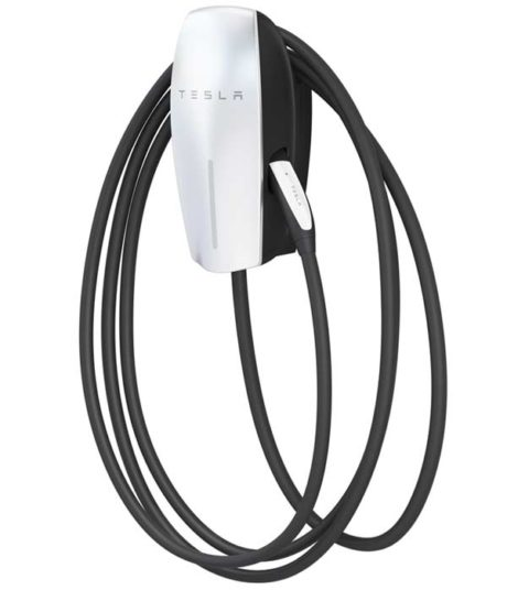 Tesla Wall Connector with 24 Foot Cable electric car charging station EVSE - overall view