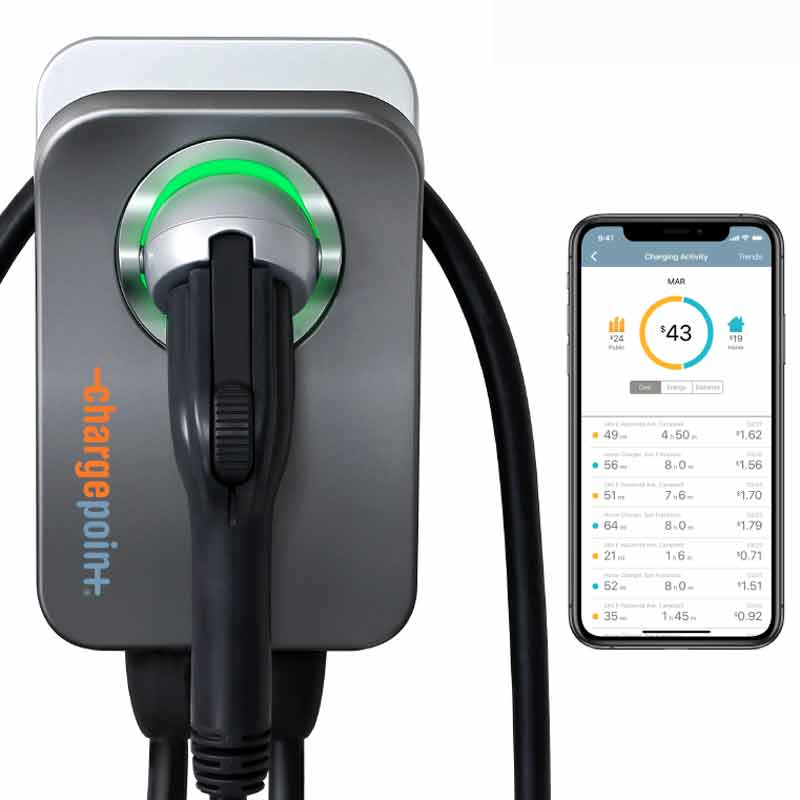 chargepoint residential electric car charger installed in los angeles, california