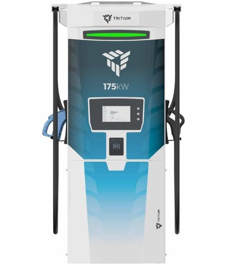 Tritium RT175-S DC fast charger for electric cars showing front view