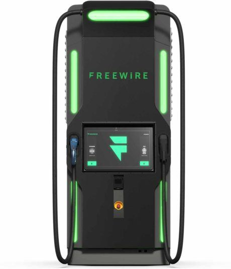 freewire boost charger electric car charger, front view