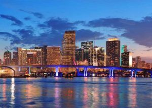 skyline of miami florida where smart charge america offers electric car charging station installation